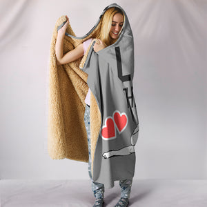 Love Thigh-Self Hooded Blanket