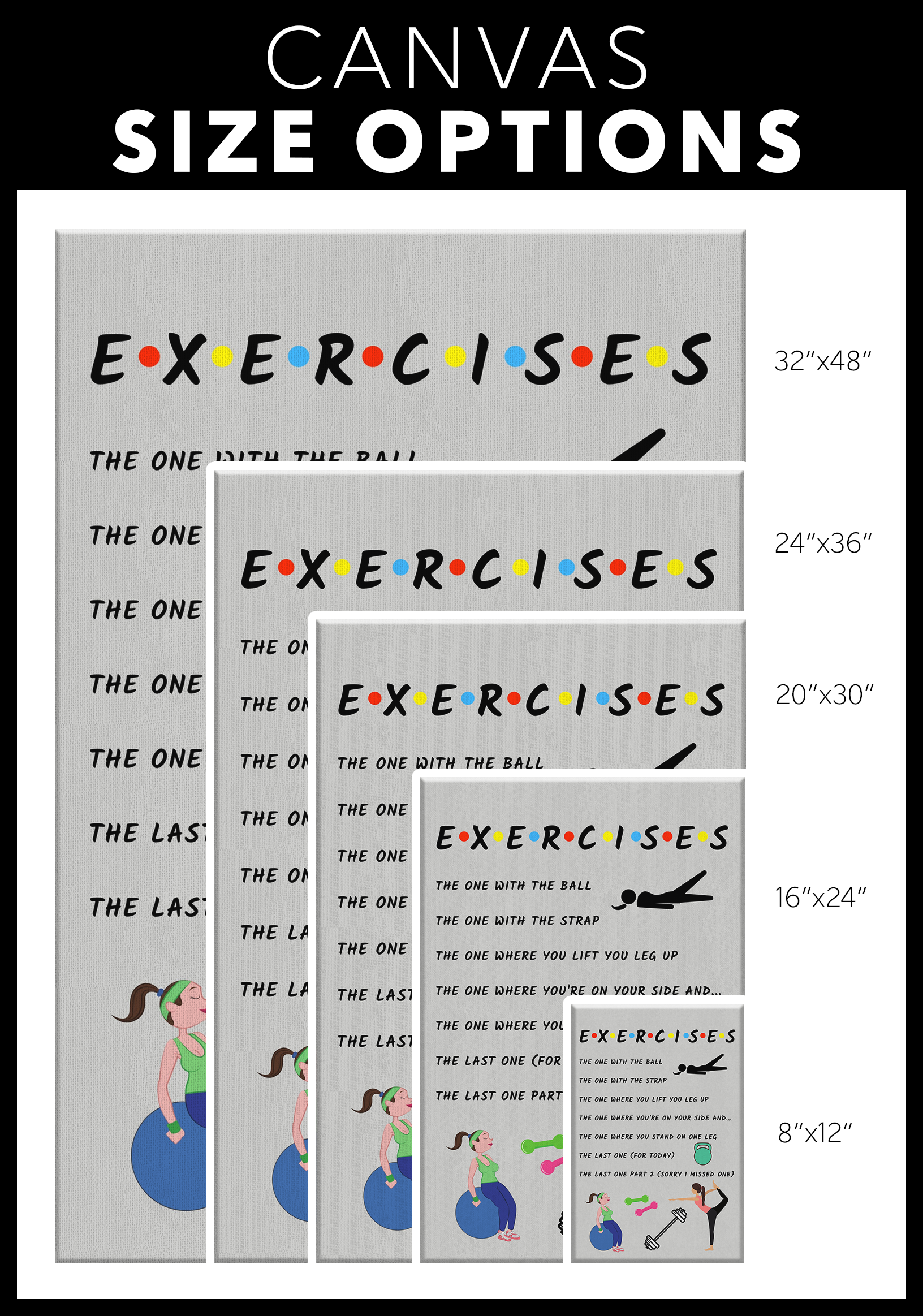 Exercises (Friends) Canvas – Physio Memes
