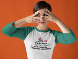 Long-sleeve Keep Calm- It's My First Christmas PTA 3/4 Sleeve - Physio Memes