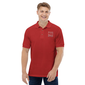 Make Life Humerus Embroidered Polo Shirt
