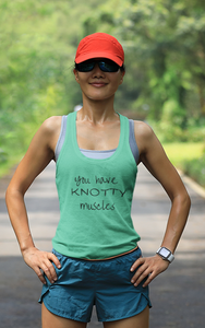 YOU have KNOTTY Muscles (1) Racerback Tank