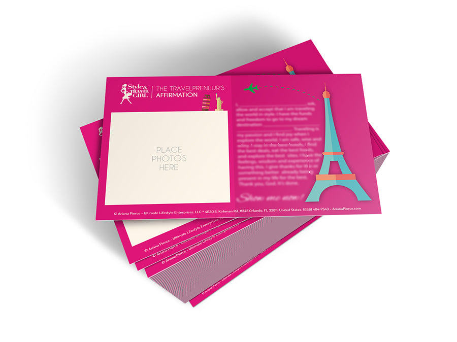 Travelpreneur Affirmation Cards