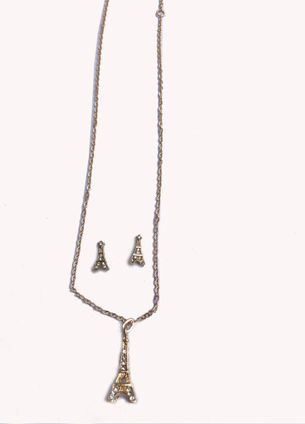 Eiffel Tower Necklace Set