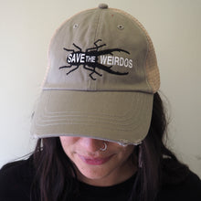 'Save the Weirdos' trucker cap - olive/khaki