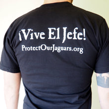 Short sleeved unisex t-shirt - 'Vive El Jefe' black
