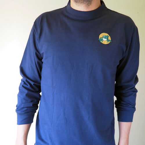 Long sleeved unisex t-shirt - navy blue