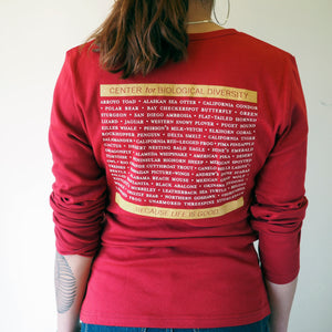 Long sleeved women's t-shirt - red
