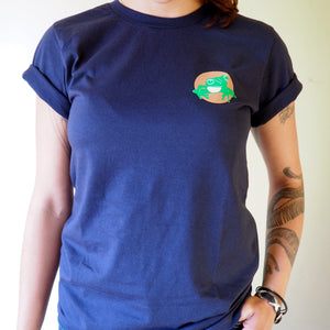 Short sleeved unisex t-shirt - navy blue