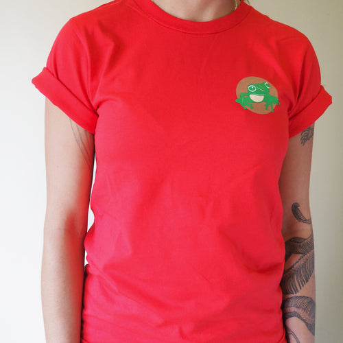 Short sleeved unisex t-shirt - red