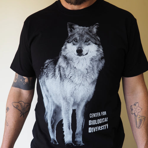 Short sleeved unisex t-shirt – 'Call of the Wild' black