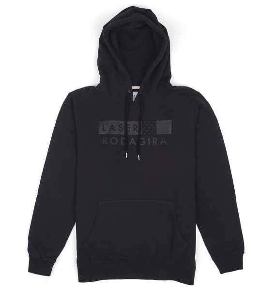 RODAGIRA X LASER TEAM HOODIE ALL BLACK