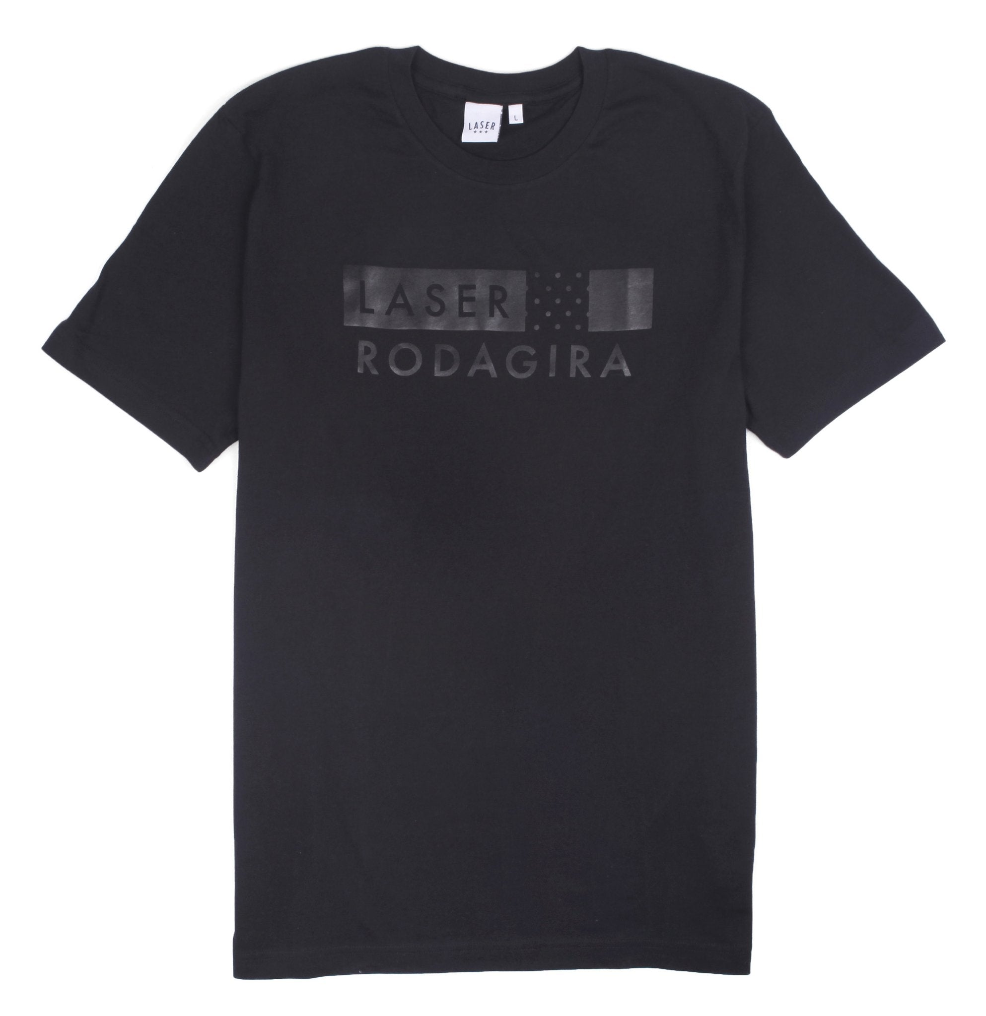 RODAGIRA X LASER WARM UP TEE ALL BLACK