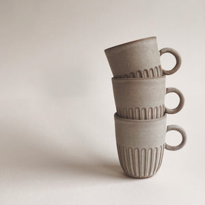 Cup- Carved- loop handle