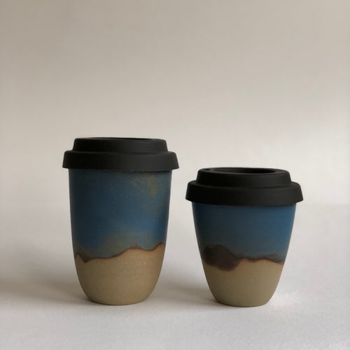 Travel Cup- Veiled Blue- Regular/Large