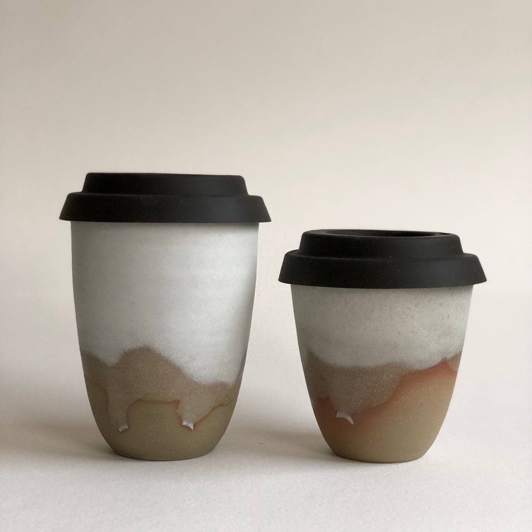 Travel Cup- Veiled Natural- Regular/Large