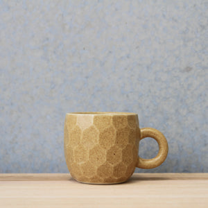 Faceted Handled Cup Wheat