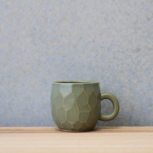 Faceted Handled Cup Sage