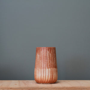Fire on Clay Vase #21