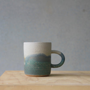 Handled Cup- Aurora Borealis- regular- large