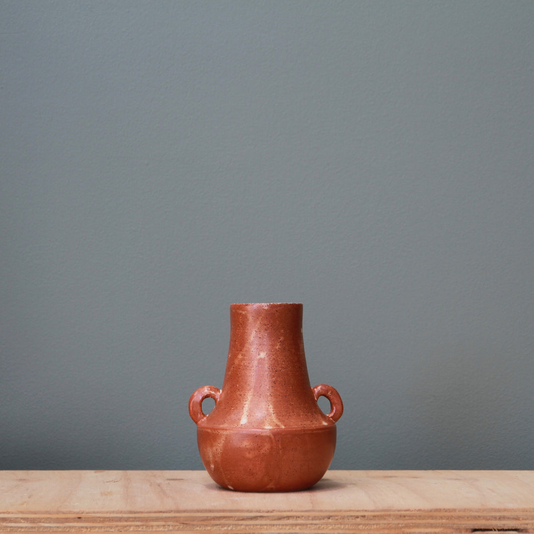 Fire on Clay Vase #16