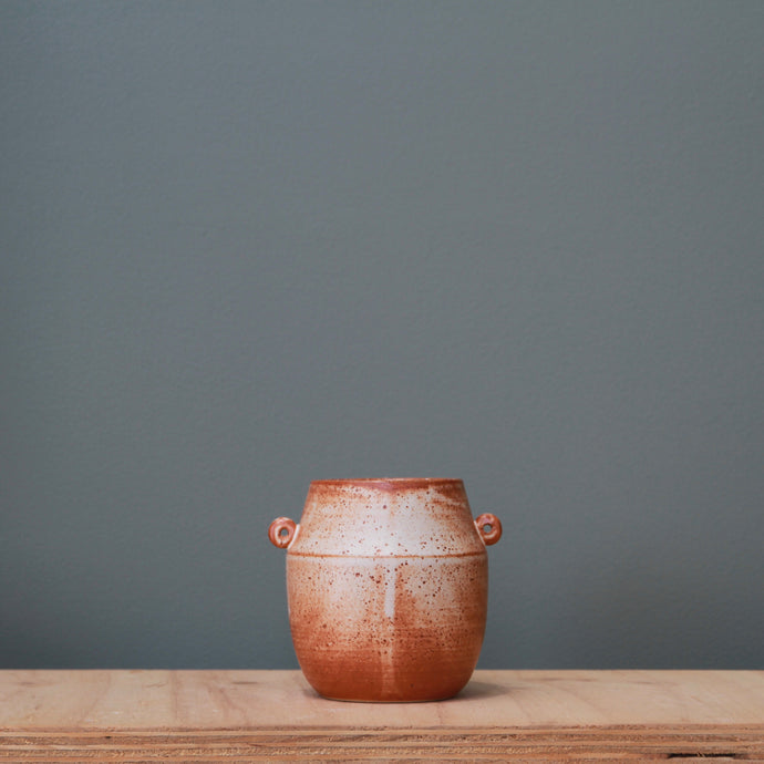 Fire on Clay Vase #15