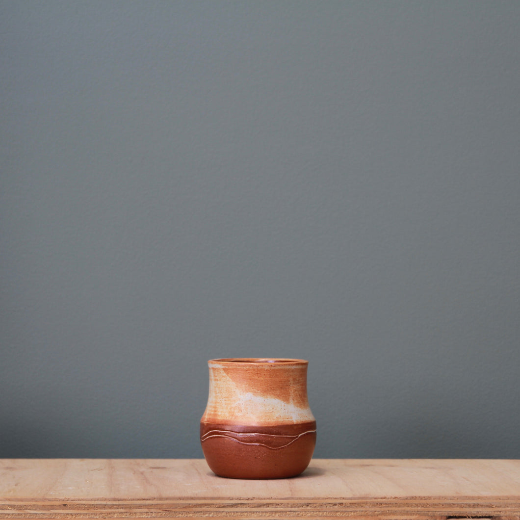 Fire on Clay Vase #6