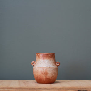 Fire on Clay Vase #24