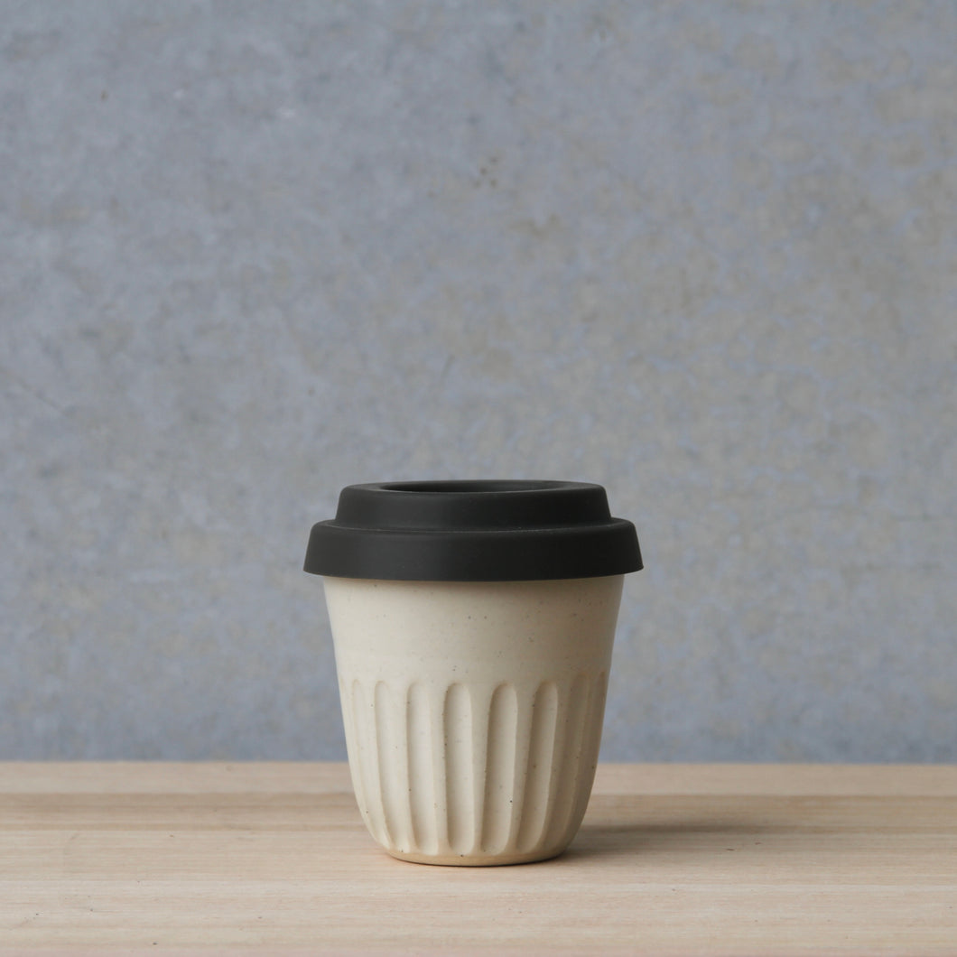 Fluted Travel Cup White