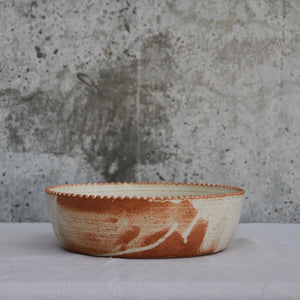 Fire on Clay Salad Bowl, Large