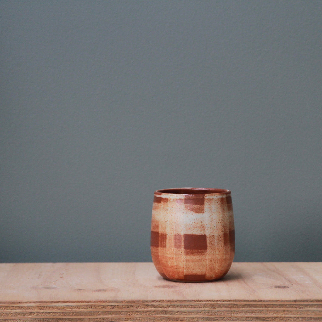 Fire on Clay Tumbler- Gingham