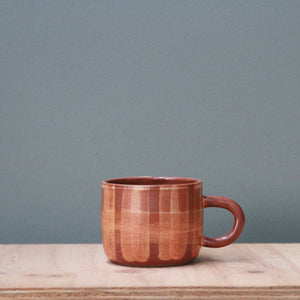 Fire on Clay Handled Cup- Gingham- Regular