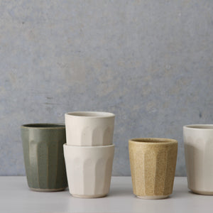 Faceted Beaker- Sage/Wheat/White (ONE OFFS)