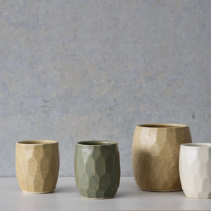 Faceted Tumbler- Sage/Wheat/White (ONE OFFS)