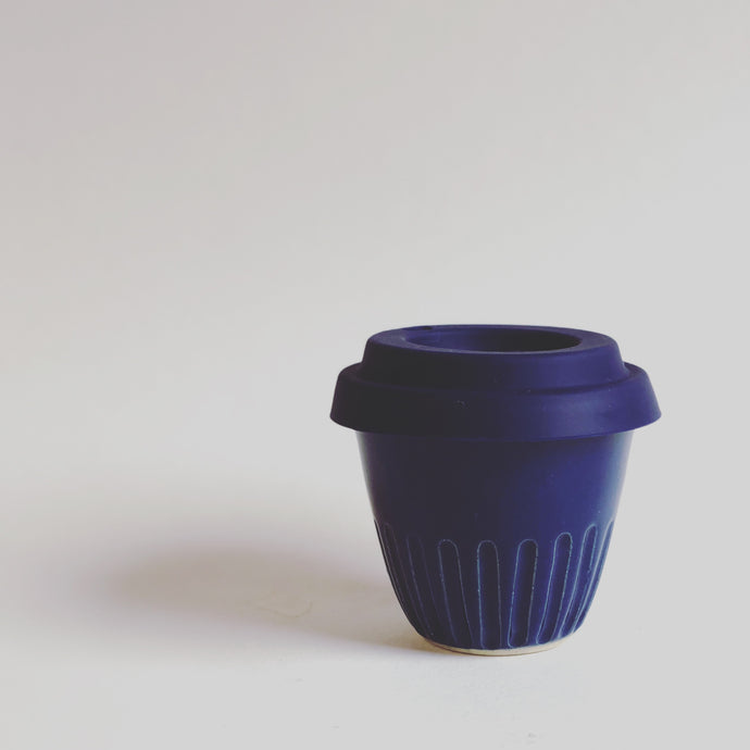 Travel Cup- Carved Navy- Small/Regular/Large