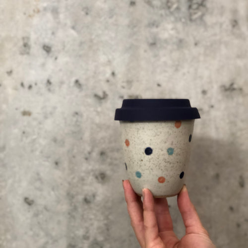 Travel Cup- Spots Multi- Regular/Large