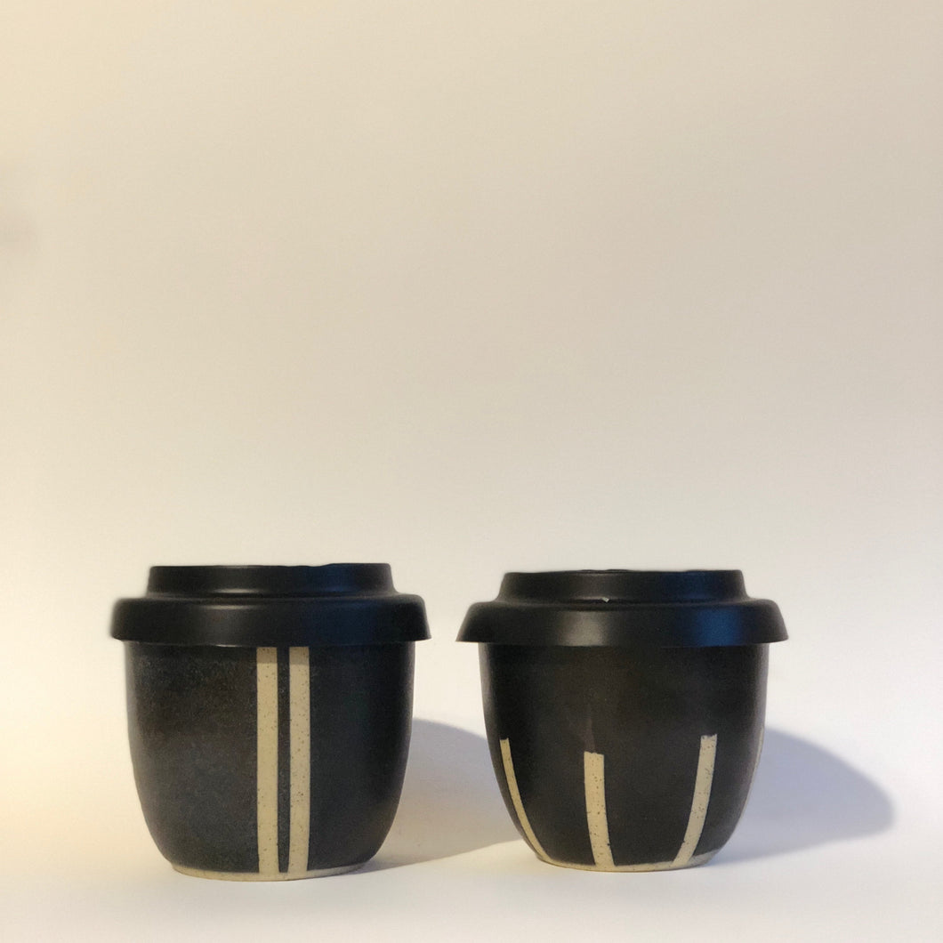 Travel Cup- Regular- Stripes- Hand made in Mebourne