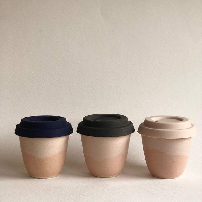 Travel Cup- Landscape Pink- Regular/Large- Handmade in Melbourne