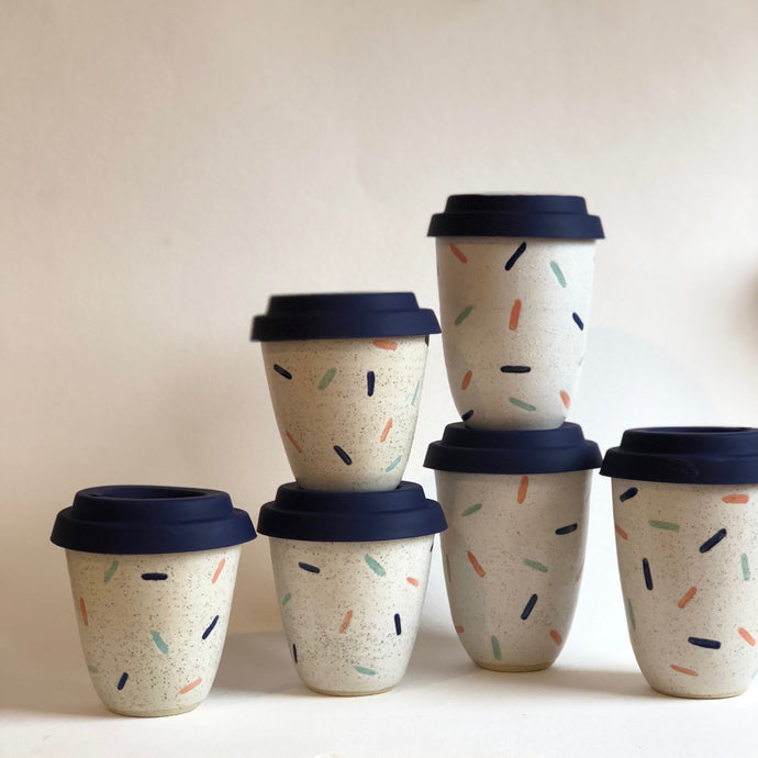 Travel Cup- Large/Regular/Small- Confetti