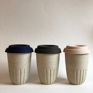 Travel Cup- Carved- Matte White- Small/Regular/Large
