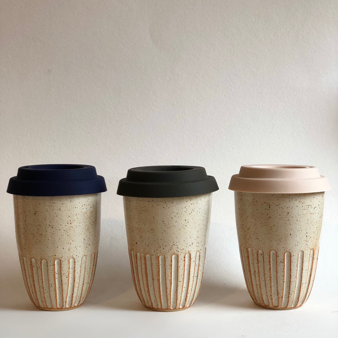 Travel Cup- Carved- Natural- Small/Regular/Large