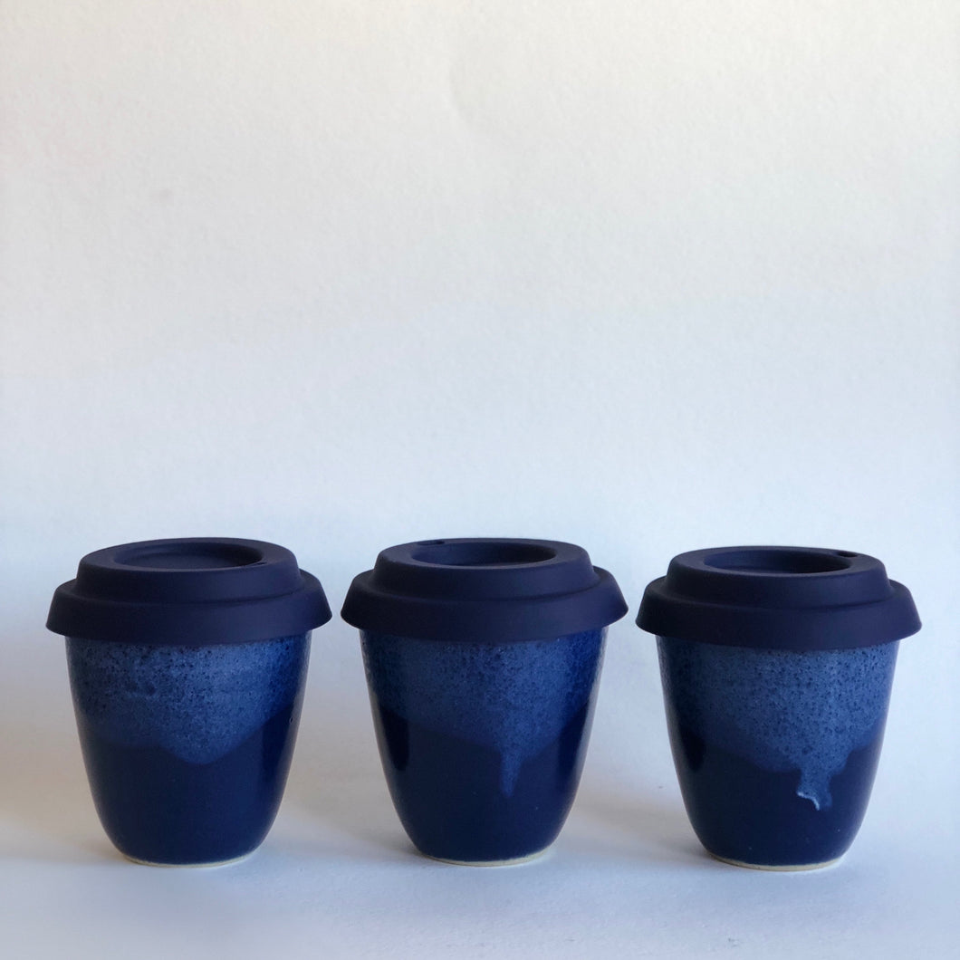 Travel Cup - Regular/Large - Blue - Hand made in Melbourne