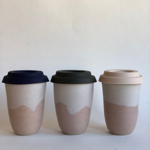 Travel Cup- Landscape Pink- Small/Regular/Large- Handmade in Melbourne