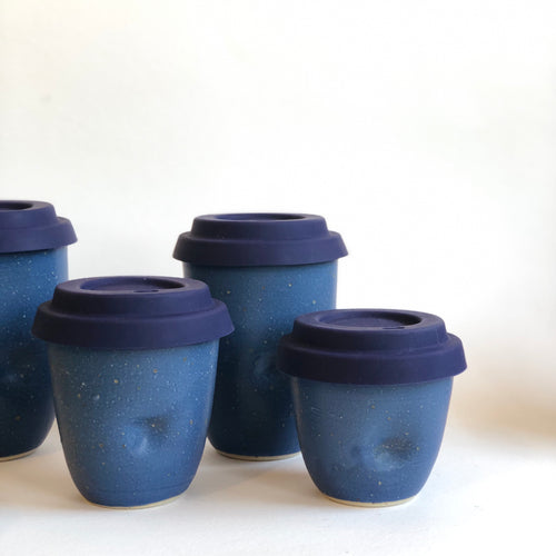 Travel Cup- Dimple Blue- Large/Regular