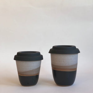 Travel Cup- Black and White- Small/Regular/Large