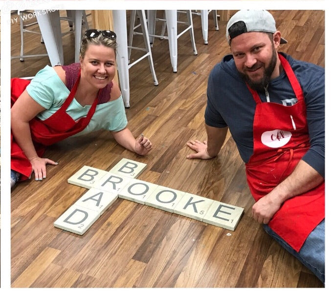 01/19/2019 @ (6:30pm) Wall Scrabble Tile Letters *Prices Vary by Package