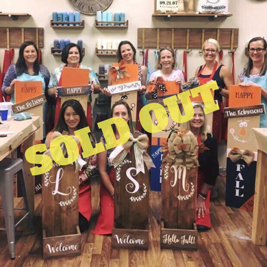 10/05/2018 @ (6:30pm) Studio Sold Out FALL, PYP and $25 Pick Your Project**Prices Vary by Project