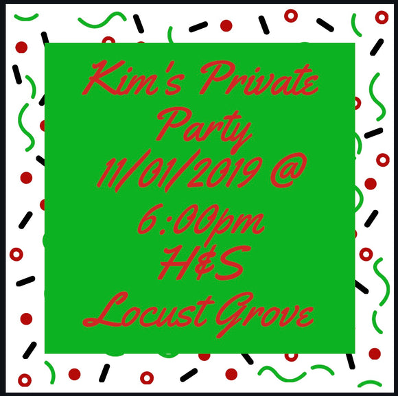 11/01/2019 @ (6:00pm)Kim's Private Party  Vintage Style Christmas Tree & Christmas Truck (Locust Grove)