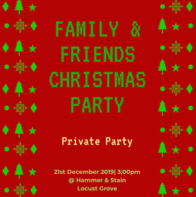 12/21/2019 @ (3:00pm) Family Private Paint Party Squares Paint Party! (Locust Grove)