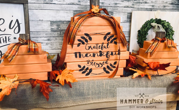 10/25/2019 @ (6:30pm) Chunky Pumpkins, Christmas and Boxes Workshop (Locust Grove)