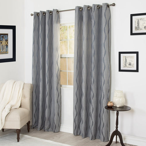 Angelina Jacquard Curtain Panel Set - 84 Inch